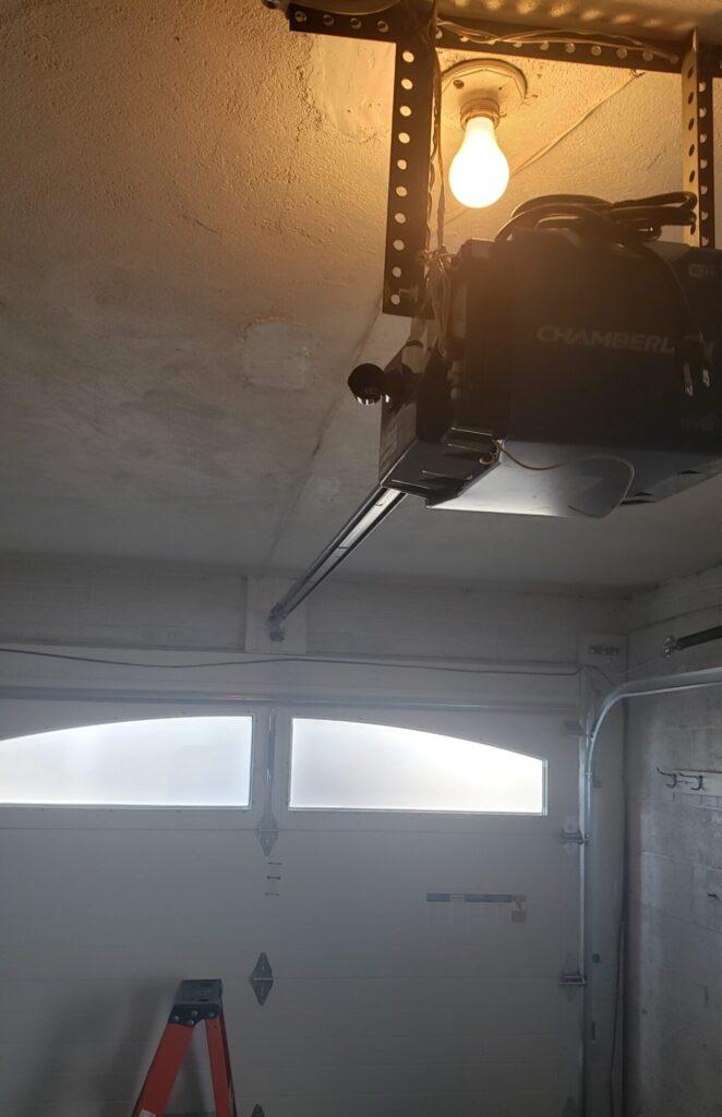 new opener and garage door installation